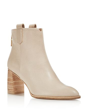 Stuart Weitzman - Women's Novako Leather Block Heel Booties