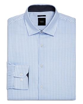 WRK - Small Grid Slim Fit Dress Shirt
