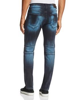 True Religion - Rocco Biker Super Slim Fit Jeans in Blue Blaze