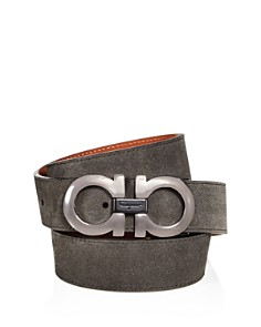 Salvatore Ferragamo Suede Double Gancini Belt - Bloomingdale's_0