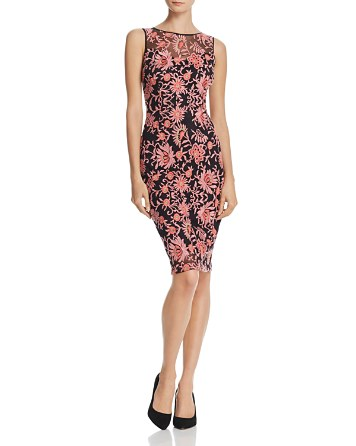 $Adrianna Papell Floral Embroidered Sheath Dress - Bloomingdale's