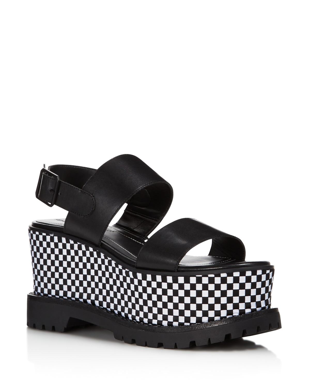 Kendall And Kylie Women's Cady Leather Platform Sandals 0VHDT5