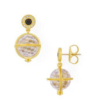 Freida Rothman Orbit Drop Earrings