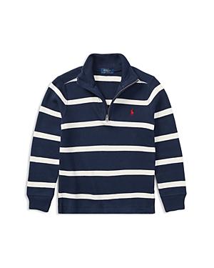Ralph Lauren Childrenswear Boys' Striped Quarter-Zip Sweater - Little Kid