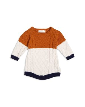 Miles Baby Girls' Color-Block Sweater Dress - Baby