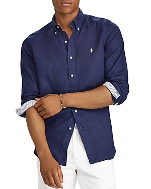 Polo Ralph Lauren Linens CLASSIC FIT LINEN LONG SLEEVE BUTTON-DOWN SHIRT