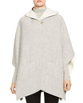 HALSTON HERITAGE - Double-Face Poncho Coat
