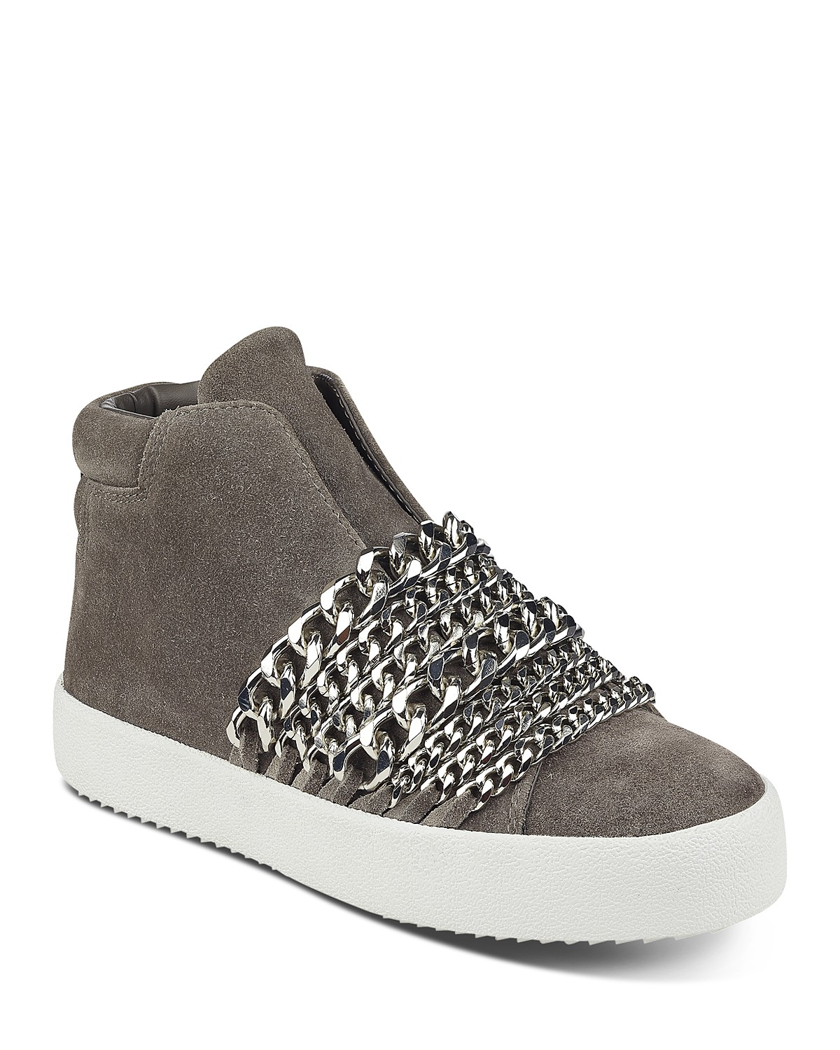 Kendall And Kylie Women's Duke Suede & Chain Trim Sneakers nRGBez
