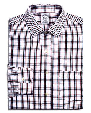 Brooks Brothers Small Windowpane Check Classic Fit Dress Shirt