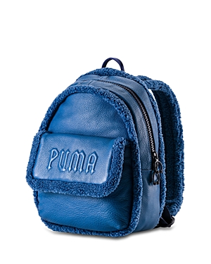 Fenty Puma x Rihanna Mini Faux-Sherpa & Leather Backpack