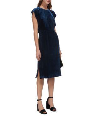 Whistles Nicole Velvet Cutout Dress 2699788