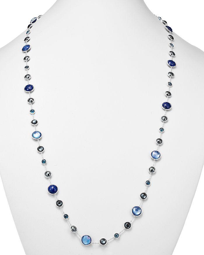 IPPOLITA Necklaces STERLING SILVER LOLLIPOP LAPIS DOUBLET, LONDON BLUE TOPAZ & HEMATITE NECKLACE IN ECLIPSE, 36