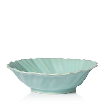 VIETRI - Incanto Stone Aqua Ruffle Large Bowl