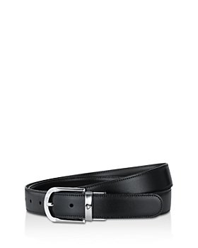 Montblanc - Men's Shiny Palladium-Coated Reversible Leather Belt