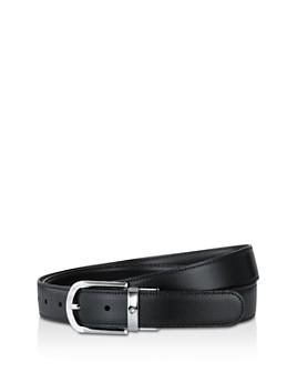 Montblanc - Men's Shiny Palladium-Coated Reversible Leather Belt