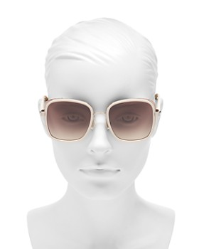 Jimmy Choo - Women's Elva Mirrored Square Sunglasses, 54mm