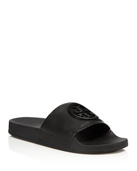 1a5a9dfe6 Tory Burch - Women s Lina Leather Pool Slide Sandals ...