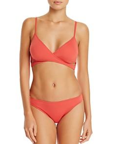 VINCE CAMUTO - Wrap Bikini Top & Biscayne Bay Illusion Classic Bikini Bottom
