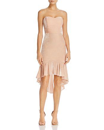 WAYF - Gwen Strapless High/Low Velvet Dress - 100% Exclusive