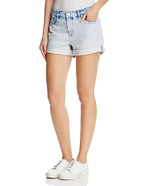 J Brand Johnny High-Rse Cuffed Denim Shorts in Dazed