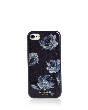 kate spade new york - Night Rose Glitter iPhone 8 Case