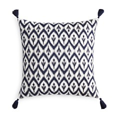 "Sky Ines Ikat Embroidered Decorative Pillow, 22"" x 22"" - 100% Exclusive - Bloomingdale's_0"