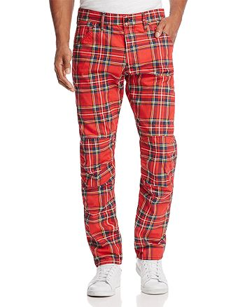 G-STAR RAW - Elwood 3D Slim Fit Jeans in Red Plaid - 100% Exclusive