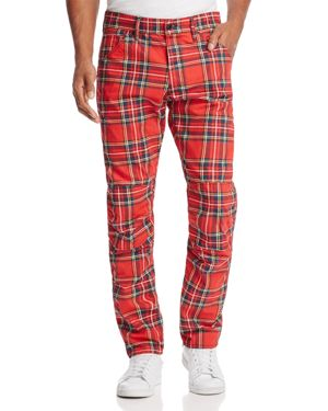 G-star Raw Elwood 3D Slim Fit Jeans in Red Plaid