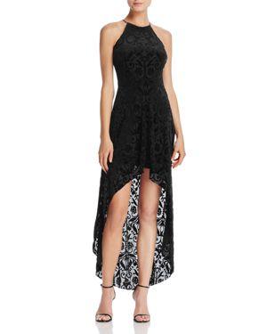 Aqua Velvet Burnout High/Low Maxi Dress - 100% Exclusive