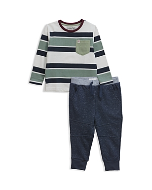 Sovereign Code Boys' Striped Long-Sleeve Tee & Joggers Set - Baby