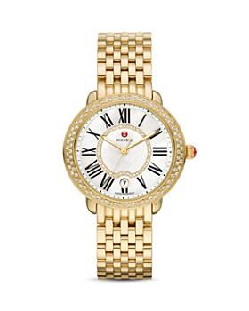 MICHELE - Serein 16 Diamond & Gold Watch Head, 34 x 36mm