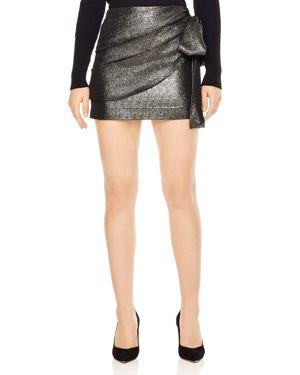 Sandro Charlette Metallic Bow-Detail Mini Skirt
