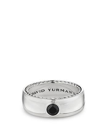 David Yurman - Streamline® Band Ring with Black Diamonds