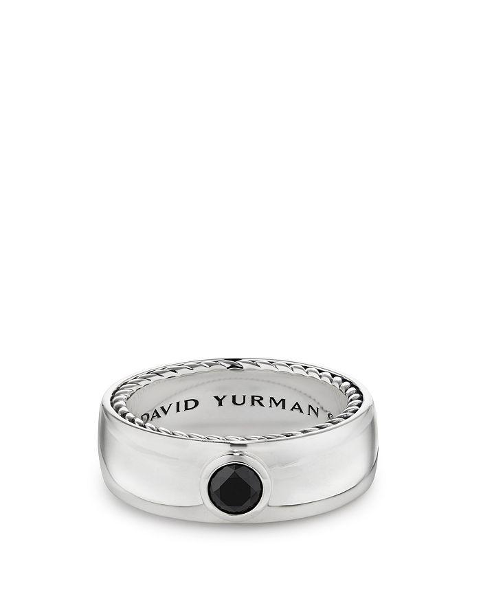 David Yurman - Streamline Band Ring with Black Diamonds