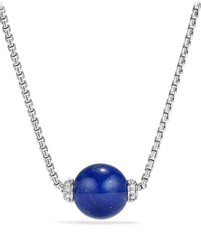 David Yurman - Solari Pendant Necklace with Diamonds & Lapis Lazuli