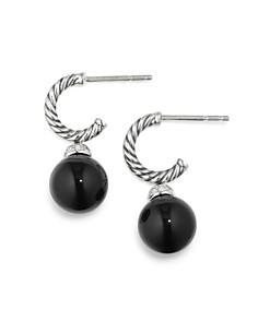 David Yurman - Solari Drop Earrings with Diamonds & Black Onyx