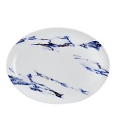 "Prouna - Marble Azure 14"" Oval Platter"