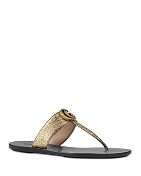 e0fea840227 Gucci - Women s Marmont Leather Thong Sandals ...