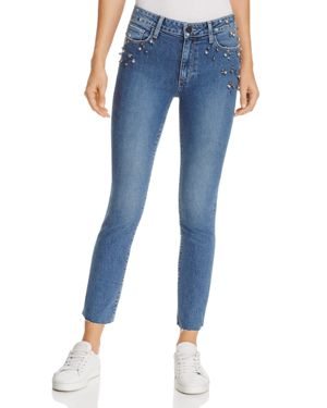 Paige Ankle Straight Jeans in Naveeen Embellished 2743232