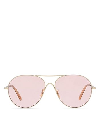 Oliver Peoples - Women's Rockmore Aviator Sunglasses, 58mm