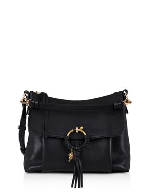SEE BY CHLOE JOAN LARGE LEATHER AND SUEDE SHOULDER BAG