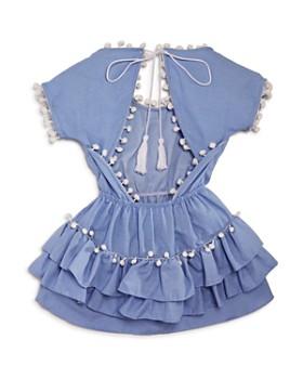 Peixoto - Girls' Ruffled Pom-Pom Dress - Little Kid, Big Kid