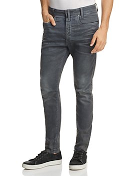 G-STAR RAW - D-Staq 3D Super Slim Jeans in Dark Aged Cobbler Blue