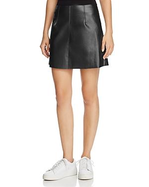 Bailey 44 Chew The Scenery Metallic Faux Leather Skirt