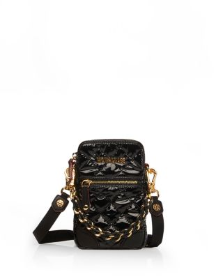 Micro Crosby Quilted Crossbody in Black