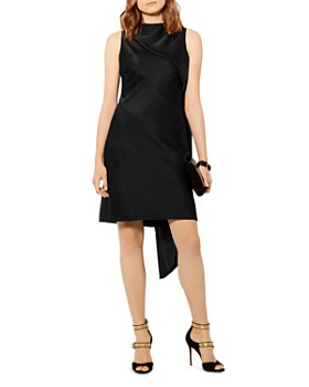 KAREN MILLEN - Asymmetric-Drape Shift Dress