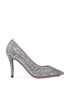 Gucci - Women's Virginia Embellished Glitter Leather Pumps