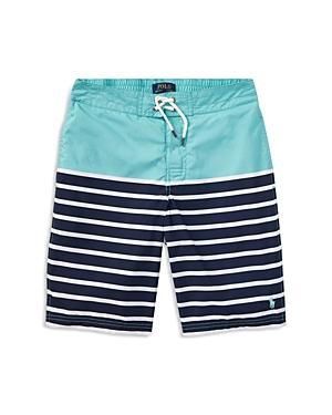 Ralph Lauren Childrenswear Boys Solid  Printed Swim Trunks  Big Kid