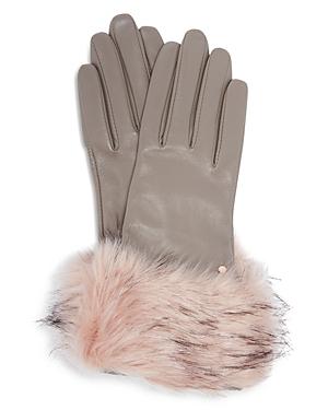 Ted Baker Jullian Round Faux Fur Gloves
