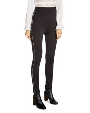 Maje Presy Side-Piped Skinny Pants